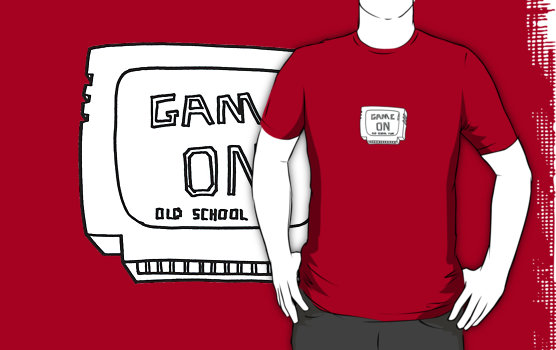 Cartridge on a red tee.