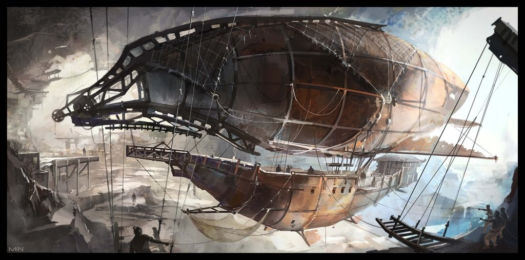 Pirates airship by Min-Nguen DramaSystem