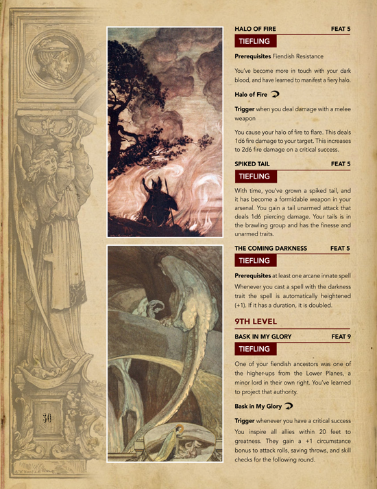 Ancestry feats for the tiefling